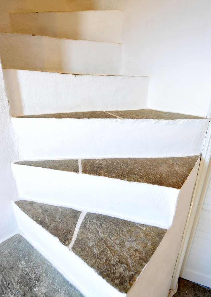 Stairs. They take you to the upper floor, where your room is. Discover every corner of the #windmill, at #sifnos #windmillbellavista
