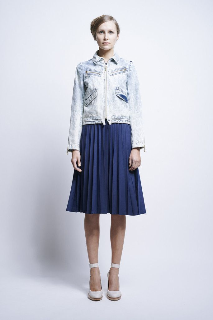 Solar Flare Skirt Navy - Karen Walker