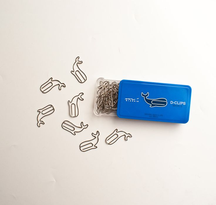 Animal-shaped paper clips as accents on gifts or as special markers. The D stands for design. By Japanese stationery maker, Midori.