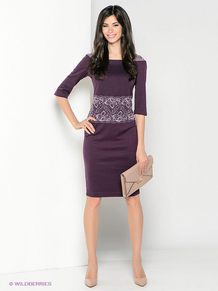 Платье с кружевом по подолу