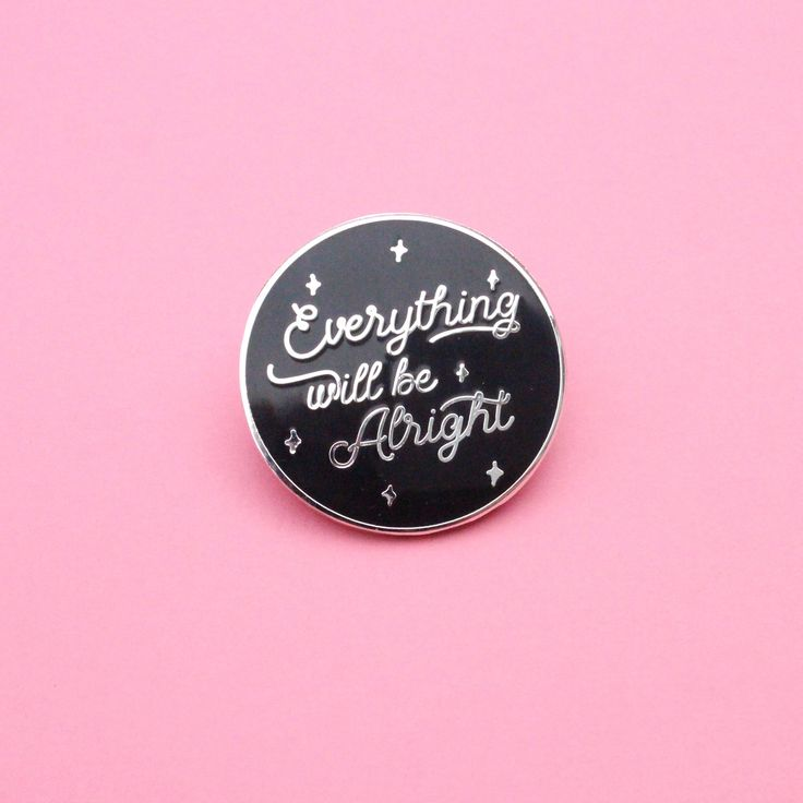 Excited to share the latest addition to my #etsy shop: Everything will be alright enamel pin,enamel pin,pin,lapel pin