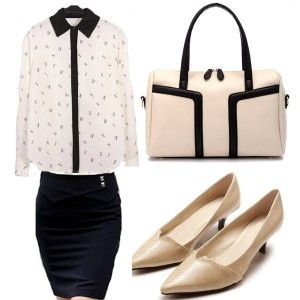 Chic elegant outfit