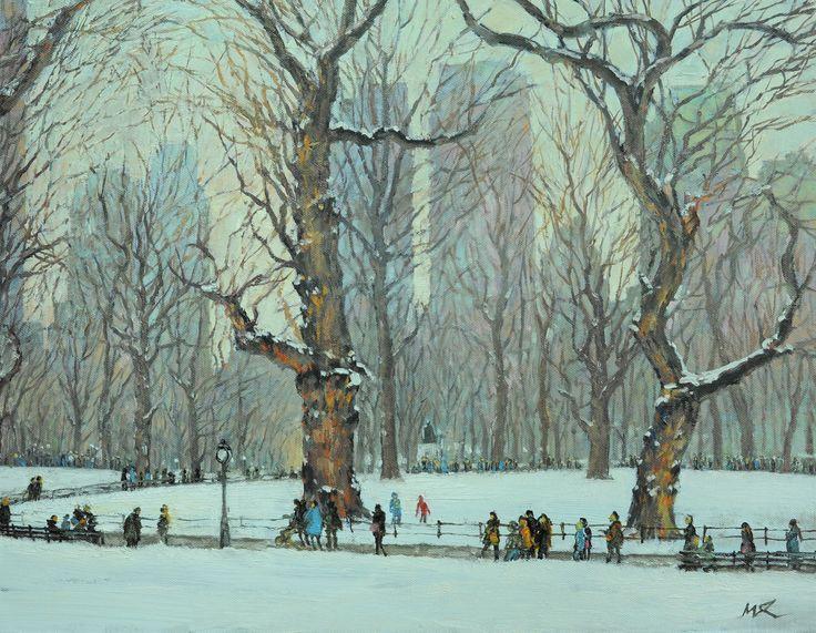 Renee's Stroll in Winter 2017_32cm x 41cm_OP
