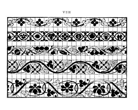 Ostaus, Giovanni. La Vera Perfezione del Disegno [True Perfection in Design], 1561, 92 pages. Note: 1909 facsimile. Scanned images provided by Tess Parrish. Posted January 4, 2004. CD (LDA04). SAMPLE PAGE. File size 5.7 MB PDF   http://www.cs.arizona.edu/patterns/weaving/books.html#C