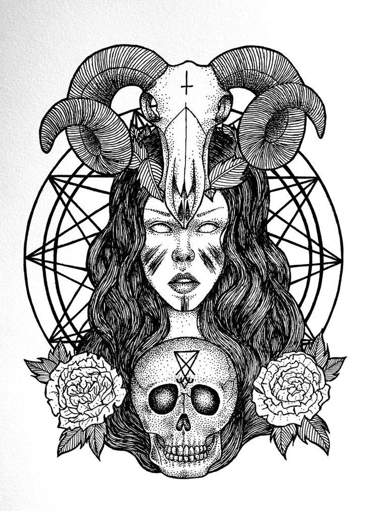 satanic art | Satanic Priestess by FrauleinVampyria