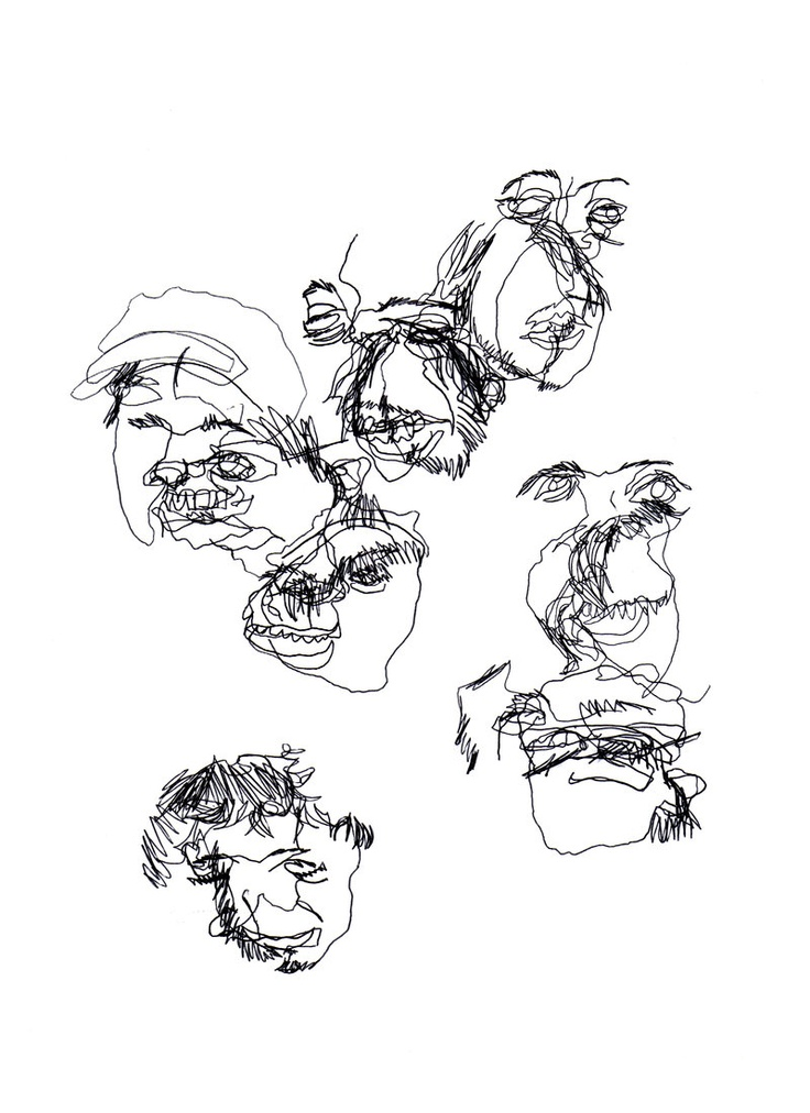 Contour Line Drawing Assignment : Best images about blind contours on pinterest
