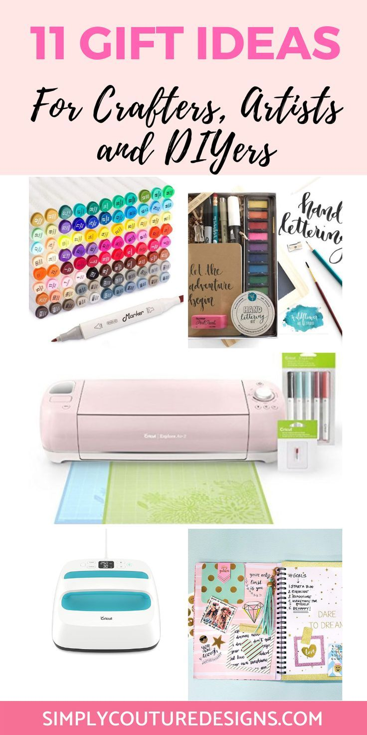 11 Gift Ideas Perfect For Crafters Artists And Diyers With Images Crafter Gift Girlfriend Gifts