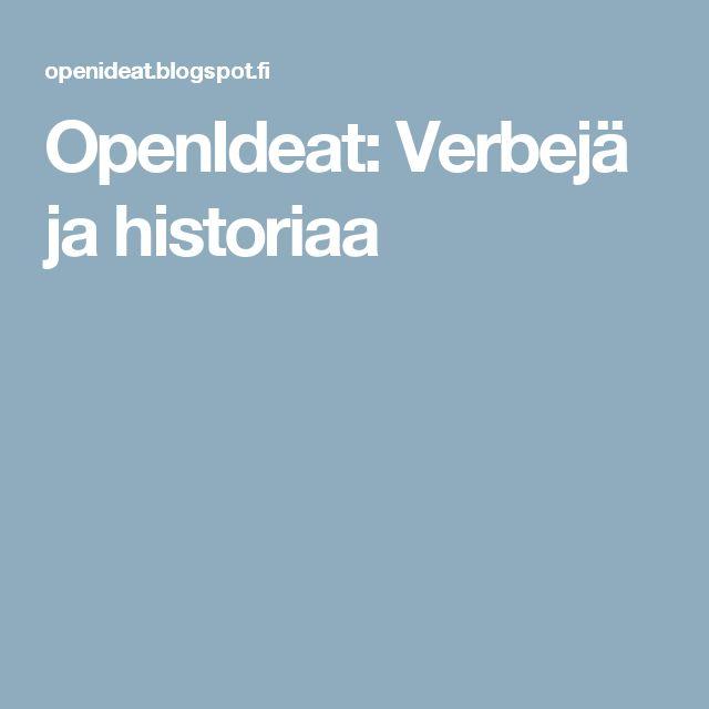 OpenIdeat: Verbejä ja historiaa