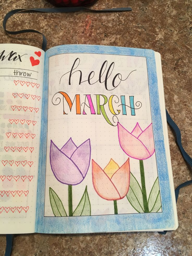 Bullet Journal cover page March 2018