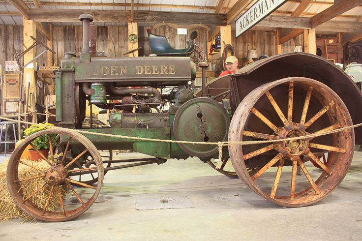 There were a lot of tractors, and old farm equipment all over the place, ... John Deere tractor