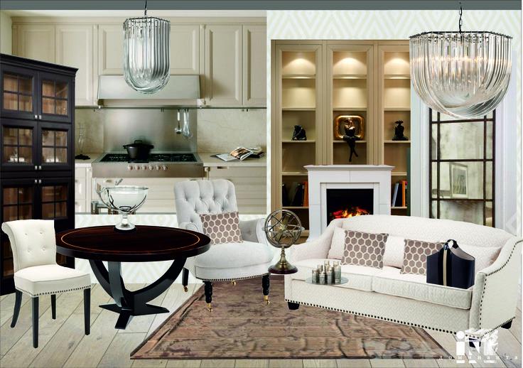 При подборке мебели и колористическом решении мы руководствовались природными цветами и натуральными материалами, создав уютное, теплое пространство.