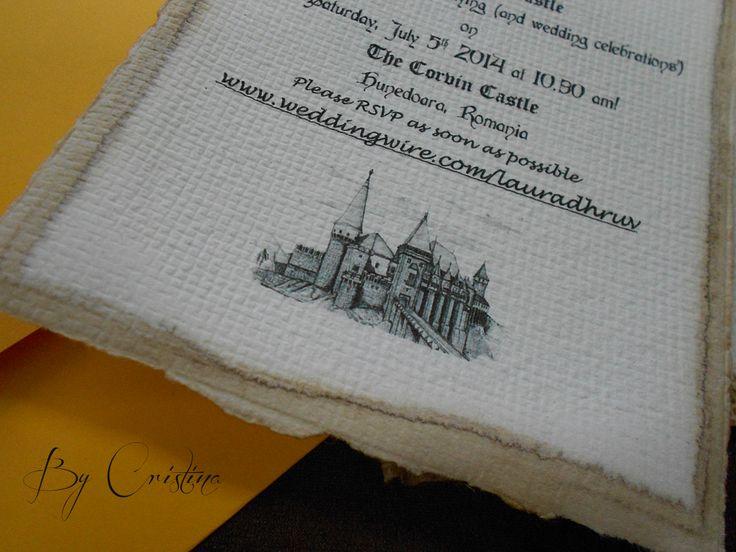 medieval handmade wedding invitation