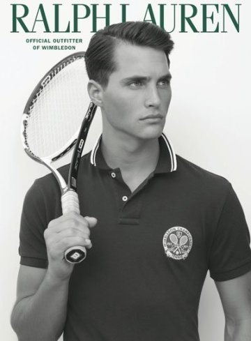 Time for a tennis match. Ollie Edwards for Ralph Lauren