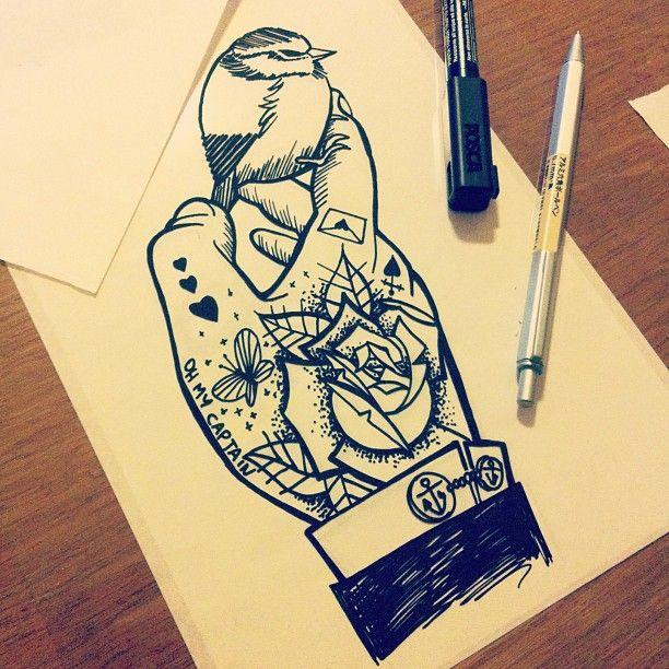 #elementedenartsearch #uniposca #tattoo #bird