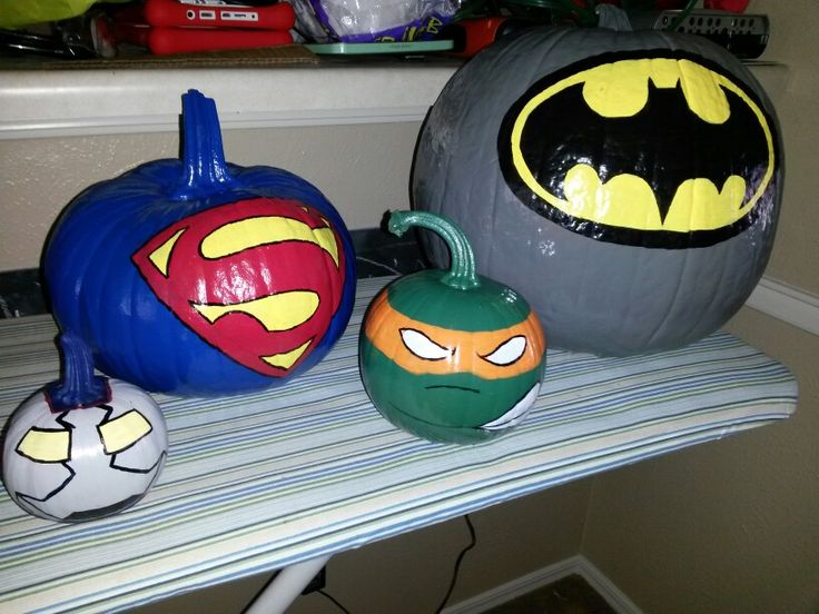Kid Friendly Not Scary Halloween Pumpkins- Super heroes                                                                                                                                                     More