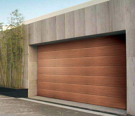 Houses With Modern Wood Garage Doors In Choose Garage