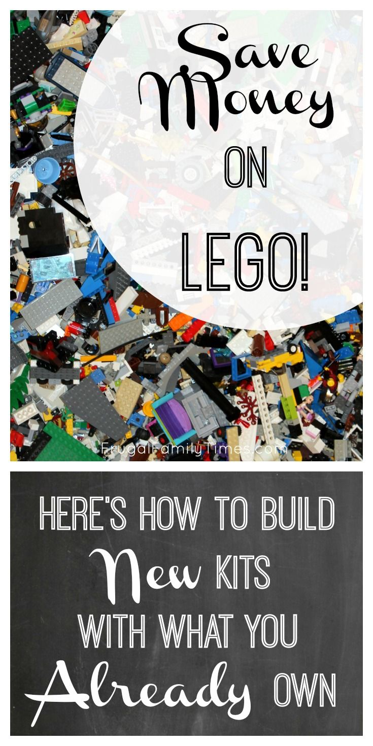 How to save money on LEGO.  How to build more kits with the LEGO you already have.  Stop buying so much Lego - you probably own enough to build lots of other kits!