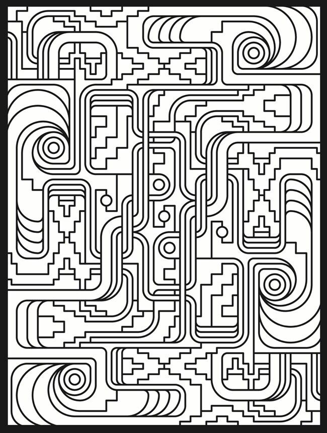 deco tech stained glass coloring book from geometric patterns coloring pages - Coloring Pages Patterns Geometric