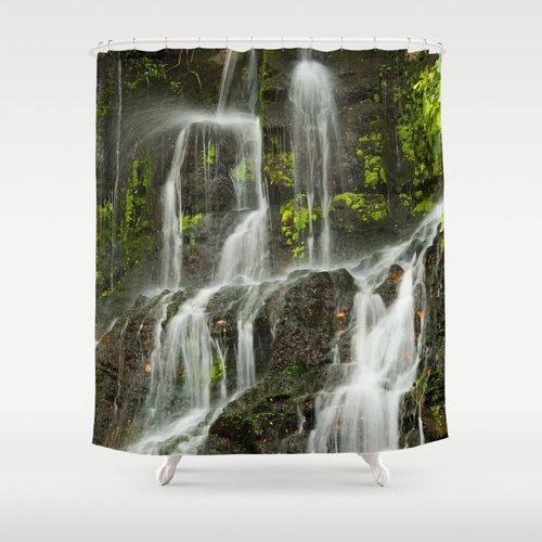 35 best images about waterfalls shower curtains on for Waterfall design etsy