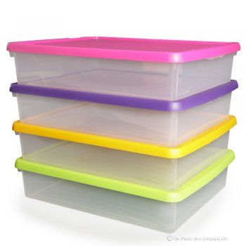Buy paper plastic storage box designed by Wham the box comes with a snap shut lid The storage box is shallow in design and can fit sized paper  sc 1 st  Pinterest & 13 best Craft Storage Boxes images on Pinterest | Craft ... Aboutintivar.Com