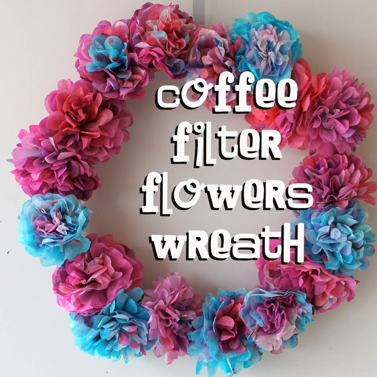 Doodle Craft: Coffee Filter Flower Spring Wreath