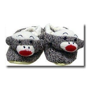 """Think of It! Sock Monkey Slippers Size 4-6 Youth by Think of It!. $21.95. Fits youth 4-6, approximate ages 8-12 but children's feet vary. Non skid sole. Slippers measure about 9-1/4"""" long. Think of It high Quality Sock Monkey Slipper. Closed heel. Inspired by the Sock Monkeys of the 1940's, these slippers will warm your heart while keeping your feet toasty and adorable! Classic, nostalgic and trendy - all in one. Machine-washable with non-skid bottoms. Size: Youth:4-6 (fits ag..."""
