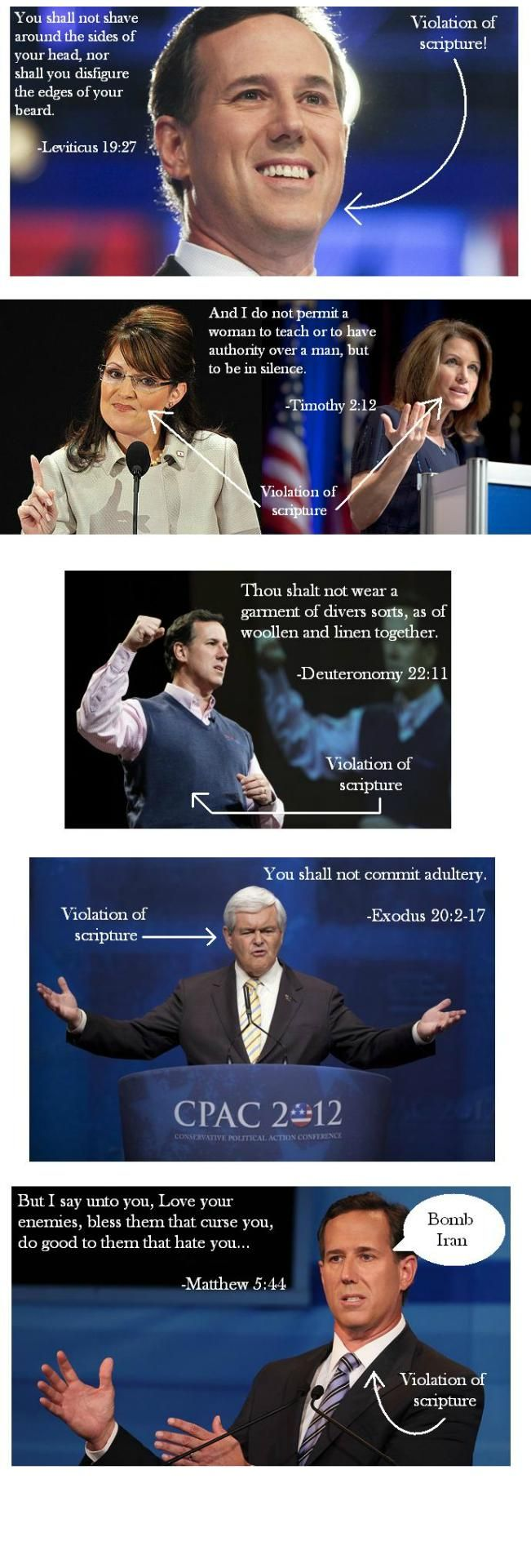 Hypocrites and cherry pickers- What was Jesus' line about that?