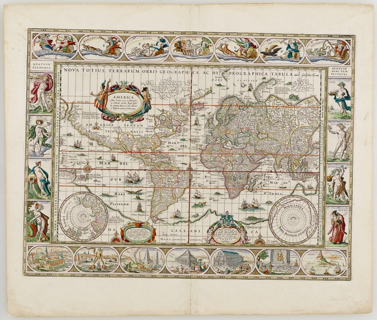 Nova totius terrarum orbis geographica ac hydrographica tabula / Auct. Guiljelmo Blaeuw       Amsterodami : Gulielmus Blaeuw Sub Signo Solarii deaurati, [1635].  Find more detailed information about this map:  http://library.sl.nsw.gov.au/record=b2069318  From the collection of the State Library of New South Wales http://www.sl.nsw.gov.au