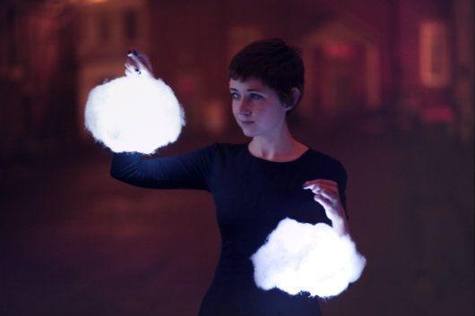 The Clothes Horse: DIY Cloud Lanterns