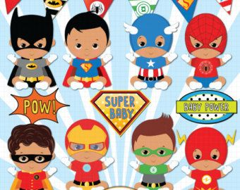 Superhero baby girl clipart Super baby Baby girl by PentoolPixie