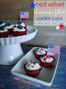 Red, White & Blue Cookie Cups ~ A Patriotic Dessert
