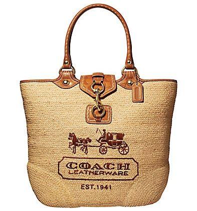 Coach Tote: Straws Totes, Coach Bags, Design Handbags, Summer Bags, Large Totes, Design Bags, Street Straws, Coach Bleecker, Straws Large