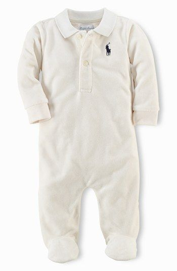 Ralph Lauren Velour Footie (Baby Boys) | Nordstrom