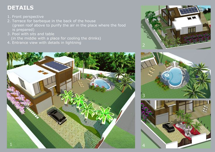 The concept environmental design in landscape architecture  applied to a residence from Antalya, TURKEY