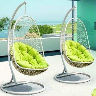 Rattan Outdoor Patio Swing Chair | Overstock.com