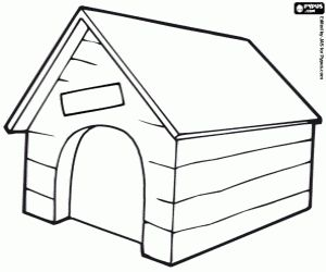 17 best images about kids colouring on pinterest for Building a dog kennel business