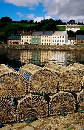 County Cork, Ireland -  Lobster pots on dock.This is where we come from.