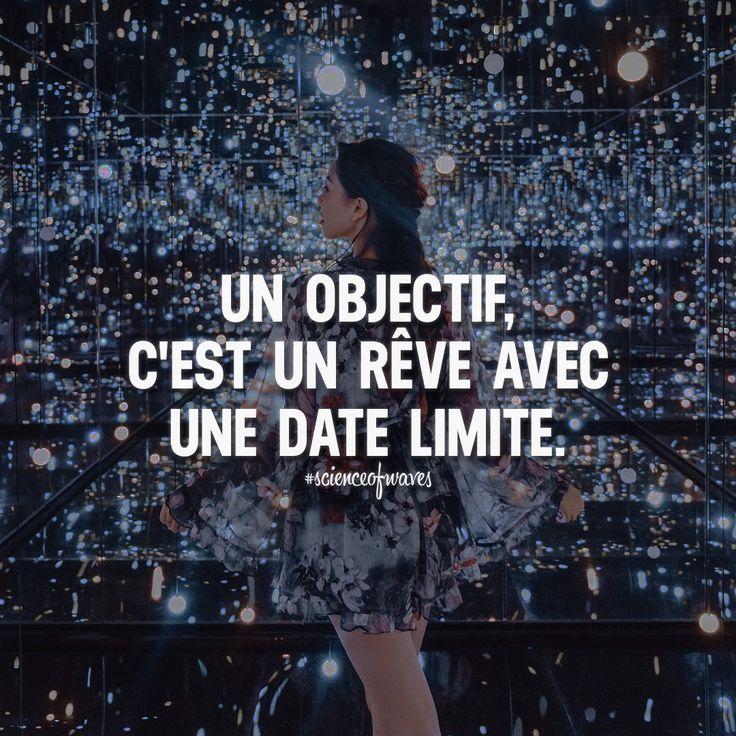 Un objectif, c'est un rêve avec une date limite. Aime et partage ton point de vue! ➡️ @scienceofwaves pour des citations motivantes! #scienceofwaves #citations #citation #réussite #motivation #inspiration #citationdujour #phrase #phrases #phrasedujour #penseedujour #proverbe #vie