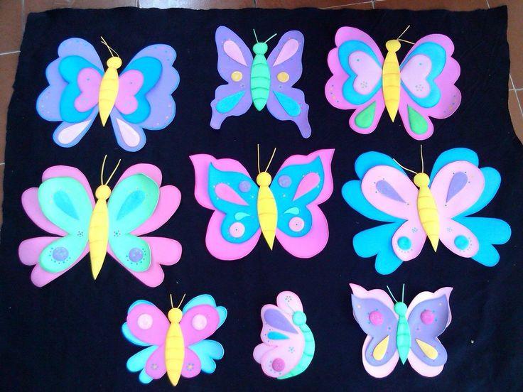 M s de 25 ideas incre bles sobre mariposas en goma eva en - Como hacer mariposas de goma eva ...