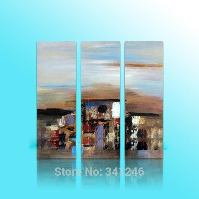 Ручная роспись современный свисают стены искусства декора дома абстрактный гостиная зал абстрактные рисунки пейзаж картина маслом на холсте в