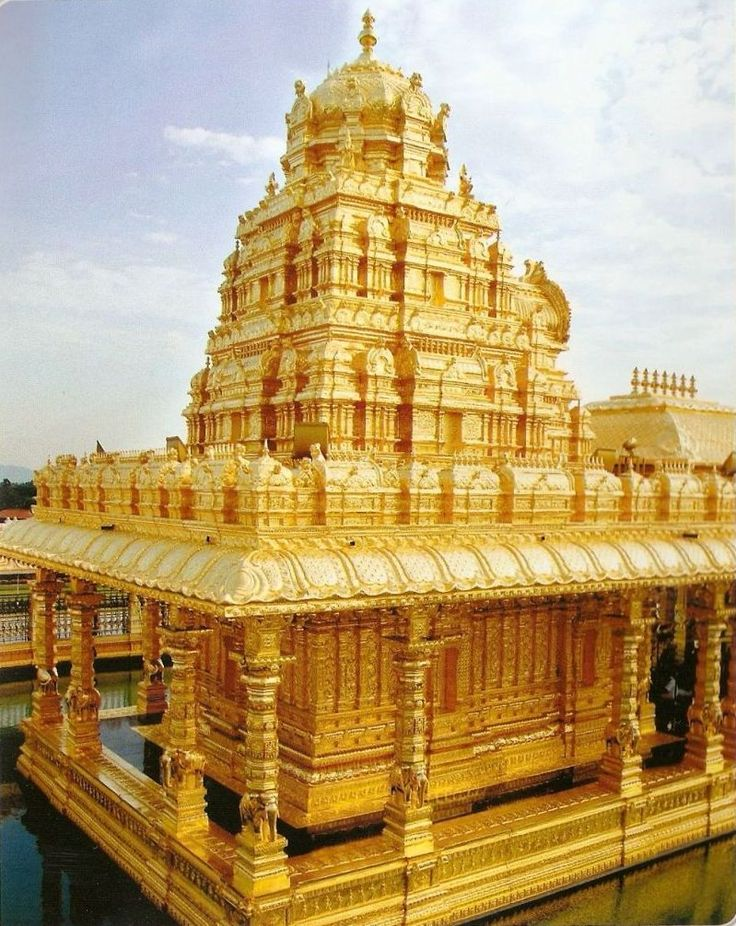 The Golden Temple of Sripuram in Vellore, Tamil Nadu, India. Inaugurated in August 2007.