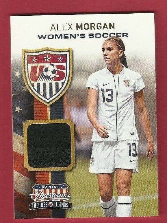 2012 Panini Americana Heros & Legends Alex Morgan Jersey 151/199 Rookie #WorldCupUSA