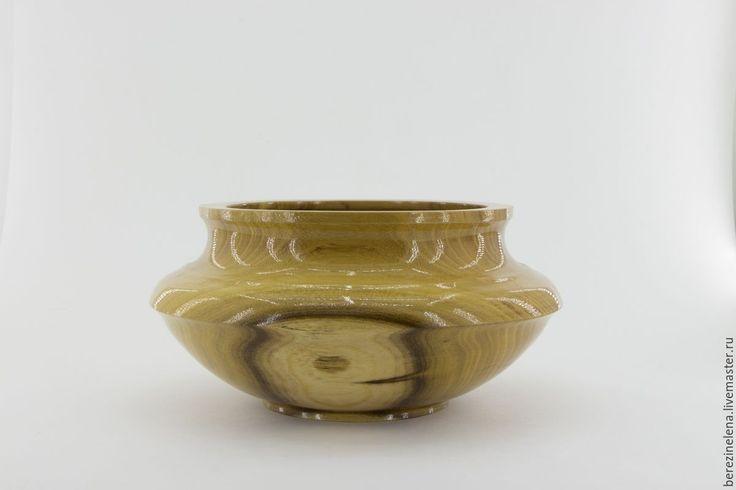 Купить Деревянная ваза из акации - оливковый, ваза, деревянная ваза, ваза из дерева, для сухоцветов, для интерьера