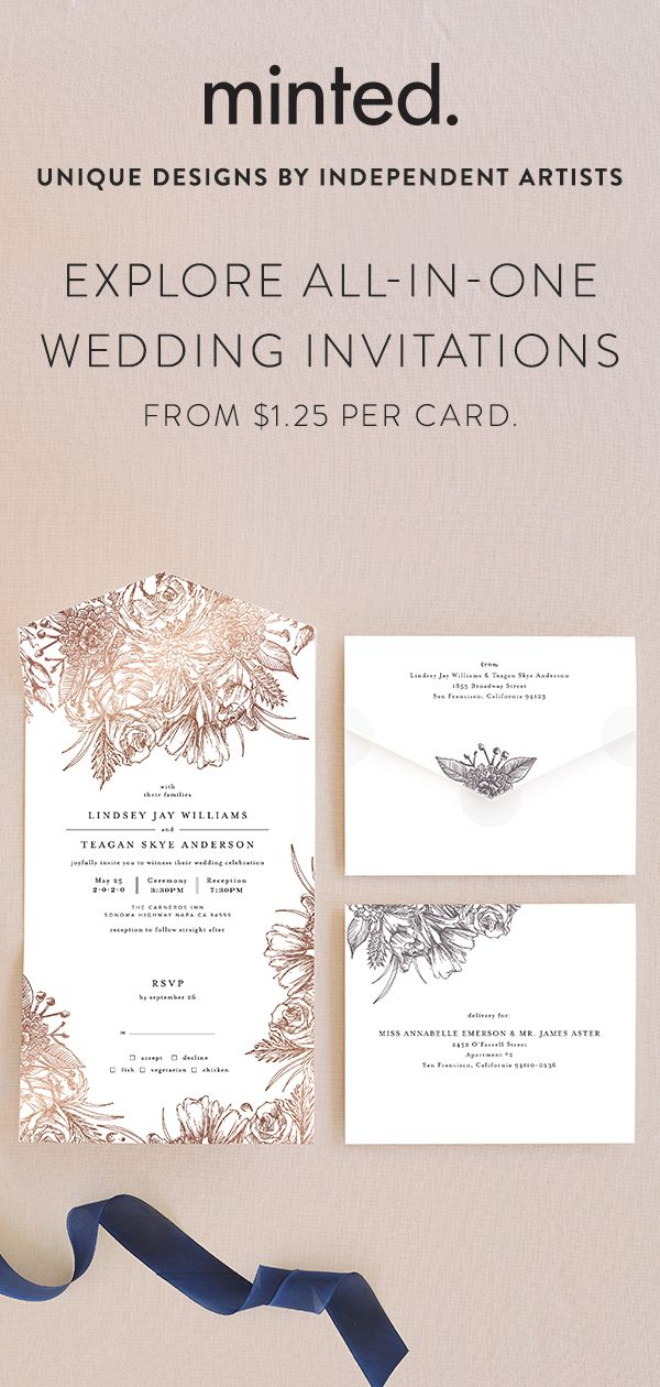 These Customizable All In One Invitations Include An