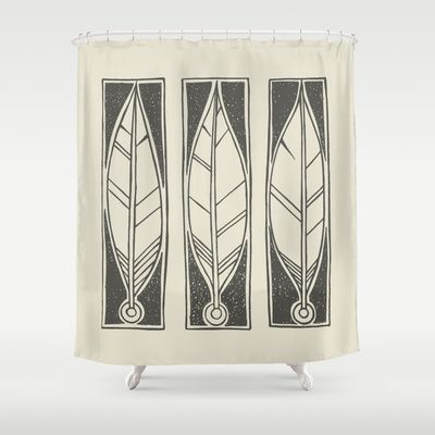 Ethnic Feathers Shower Curtain by Nameless Shame - $68.00