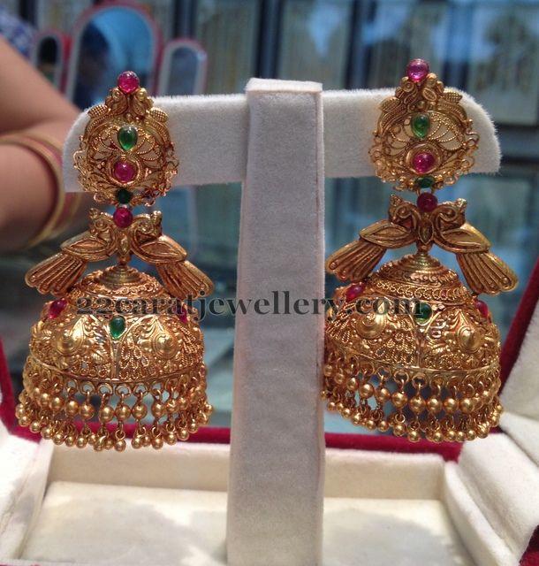 Jewellery Designs: Latest More Jhumkas