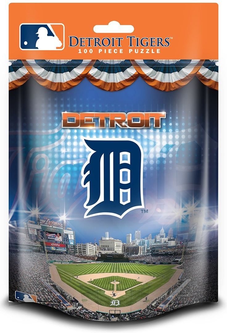 MLB Detroit Tigers - 100 Piece Jigsaw Puzzle (pouch)