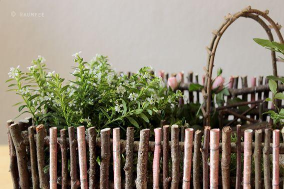 Wie man Geldgeschenke in einen englischen Cottage-Garten verpackt, oder: wie man einen Minigarten anlegt.