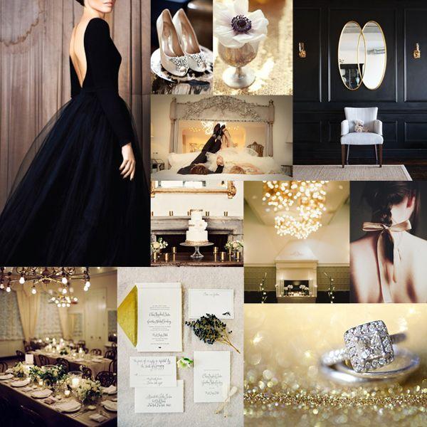 Elegant black gold gold weddings wedding ideas and gold - Black and gold wedding reception decorations ...