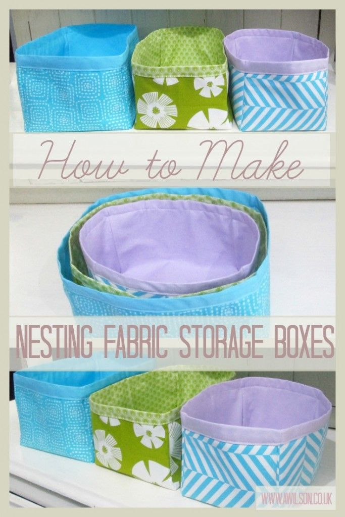 Another quick and easy storage solution you can make! Perfect for using up fat quarter bundles that you don't know what to do with. Full instructions and step by step photos. Tea and a Sewing Machine www.awilson.co.uk